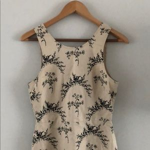 Gap cream/black sleeveless linen dress